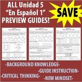 Spanish 1 - En Espanol 1 - Unidad 5 ALL Etapas - Preview Guides