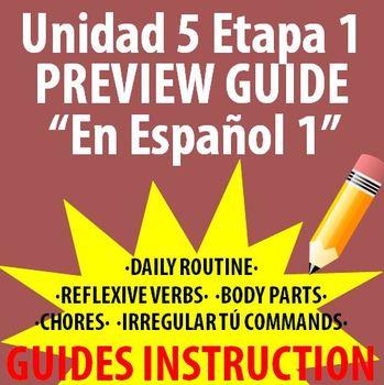 Spanish 1 - En Espanol 1 - Unidad 5 Etapa 1 Preview Guide