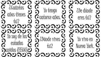 Spanish 1 End-of-Year Review - Question & Answer Realidades Review