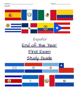 Spanish 1 End of the Year Study Packet