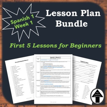 spanish 1 for beginners first week of school lesson plans. Black Bedroom Furniture Sets. Home Design Ideas