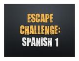 Spanish 1 Escape Challenge