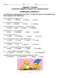 Spanish 1 Exam: Family Vocabulary, Possessive Adjectives a
