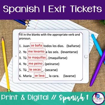 Spanish 1 Exit Tickets:  140