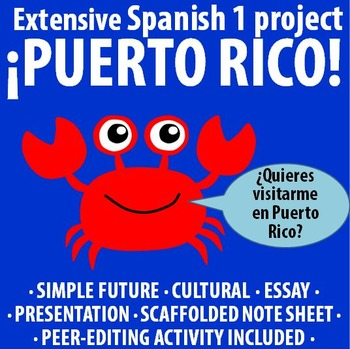 Spanish 1 - Extensive Project on Puerto Rico