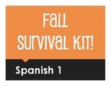 Spanish 1 Fall Survival Kit