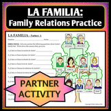 Spanish 1 - Family Tree Vocab Practice - Partner Activity