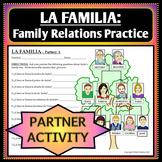Spanish 1 - Family Tree Vocab Practice - Partner Activity