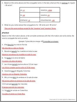 Spanish 1 - Figure Out: -IR Present Tense Verbs
