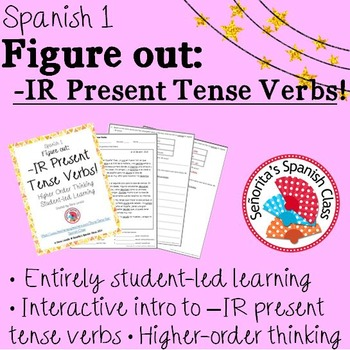 Spanish 1 - Figure Out: -IR Present Tense Verbs