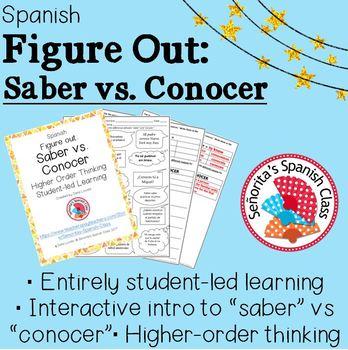 Spanish - Figure Out: Saber vs. Conocer
