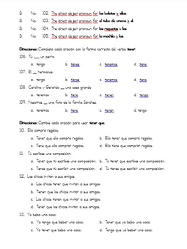 Spanish 1 Final Exam / Español 1 Examen Final w/ reading passages (NO PRETERITE)
