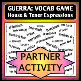 Spanish 1 - GUERRA - Vocab Word Game - Partner Activity - HOME and TENER