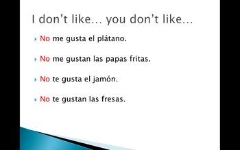 Spanish 1 GUSTAR PowerPoints/worksheet