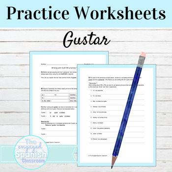 Spanish 1 Grammar: Guided Notes & Practice for GUSTAR with