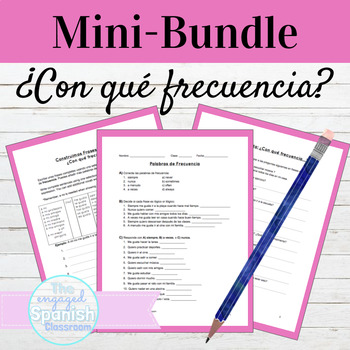 Spanish 1 Frequency MINI BUNDLE: Practice, Sentence Buildi