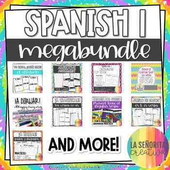 Spanish 1 Grammar Mega Bundle