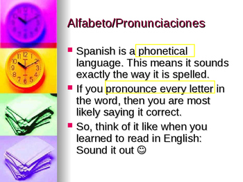Spanish 1 Grammar Review Part A PowerPoint