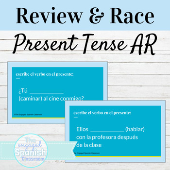 Spanish 1 Guided Notes and Conjugation Race Activity for AR verbs: los verbos AR