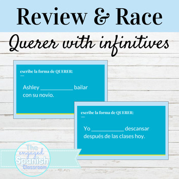 Spanish 1 Guided Notes and Word Race Activity for QUERER with Infinitives