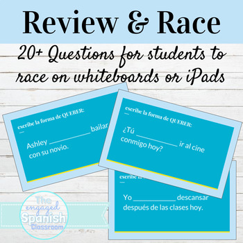Spanish Querer Review and Word Race Activity