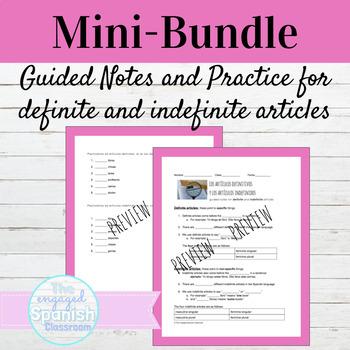 Spanish Definite and Indefinite Articles Mini Bundle