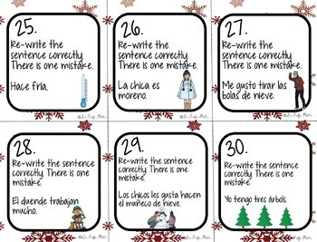 Spanish 1 Holiday Activities Bundle (Winter, Christmas Activities)