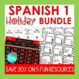 Spanish 1 Holiday Activities Bundle (Winter, Christmas Act