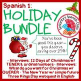 Spanish 1 - Holiday BUNDLE!