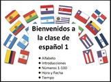Spanish 1 Introductory Unit Flip Chart