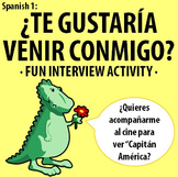 Spanish 1 - Invite and Respond - Fun Interview Activity