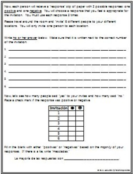 Spanish 1 - Invite and Respond - Fun Interview Activity