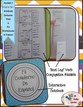 Spanish 1 Irregular Verbs - Boot Leg Conjugation Verbs - Interactive Notebooks