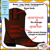Spanish 1 Irregular Verbs - Boot Leg Conjugation Verbs - Interactive Notebooks