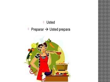 Spanish 1 Pizarrita Game for AR verbs