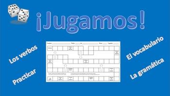 ¡Jugamos! - Adaptable VERB/VOCAB Game Board - Spanish 1 & 2