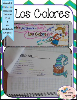 Spanish 1 Los Colores -  Interactive Notebooks