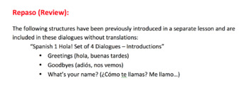 Spanish 1 Me Gusta Hacer (I Like To Do) - Set of 4 Dialogues (Realidades Ch 1)