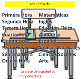 Spanish 1 Mi Horario Practice Realidades 1 chapter 2A