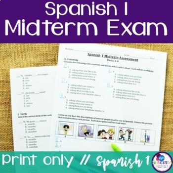 Spanish 1 Midterm Assessment