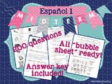 Spanish 1 Midterm Exam / Español 1 Examen de Mitad
