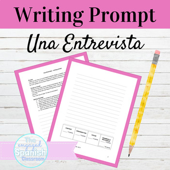 Spanish Interview Style Writing Prompt: A Conocernos