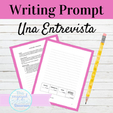 Spanish Introductions Interview Style Writing Prompt
