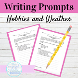 Spanish Hobbies and Weather Writing Prompt