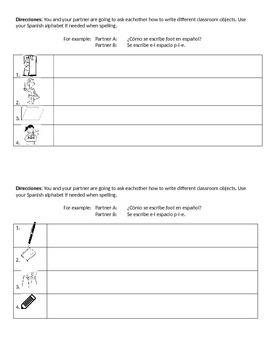 Spanish 1 Para Empezar Classroom Sayings Info Gap