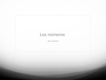 Spanish 1 Para Empezar Numbers Practice