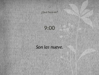 Spanish 1 Para Empezar Telling Time Practice