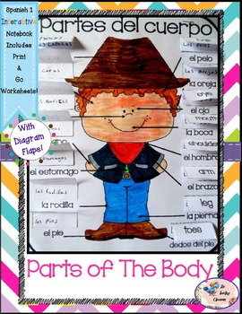 Spanish 1 Partes del Cuerpo - Parts of the Body - Interactive Notebooks
