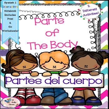 Spanish 1 Partes del Cuerpo - Parts of the Body - Interact