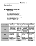 Spanish 1 Poema en diamante w/rubric - SER + adjectives, A